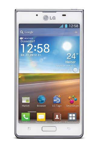 "LG Optimus L7 (P700) - Smartphone libre Android (pantalla 4.3"", cámara 5 Mp, 4 GB, 1 GHz, 512 MB RAM), blanco (importado)"