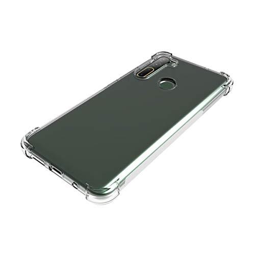 """LJSM Funda para HTC Desire 20 Pro (6.5"""") + 3 Piezas Protector de Pantall - Carcasa Protectora Delgada y Transparente con Refuerzo en Las Esquinas Parachoques Fundas de TPU Flexible"""