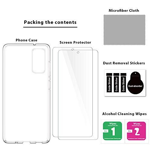 LK Funda para Samsung Galaxy S20 FE 4G/5G + [2 Pack] Protector de Pantalla Vidrio Templado, Transparente Carcasa Ultra Fina Suave TPU Silicona Gel Case Cover para Samsung Galaxy S20 FE 4G/5G -Clara