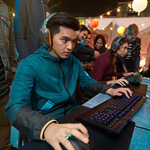 Logitech G213 Prodigy Teclado Gaming, Retroiluminación RGB LIGHTSYNC, Resistente a Salpicaduras, Personalizable, Controles Multimedia, Disposición QWERTY Español, Negro