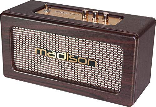 Madison Freesound-Vintage-Wd - Altavoz Bluetooth, Marrón