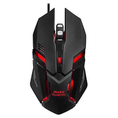 Mars Gaming MCP118, Pack Iluminación RGB de Teclado, Ratón y Alfombrilla Gaming, USB Alámbrico, Negro