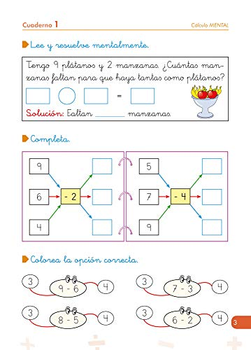 Matemáticas comprensivas. Cálculo 1 / Editorial GEU / 1º Primaria / Aprendizaje del cálculo / Recomendado como apoyo (Niños de 6 a 7 años)