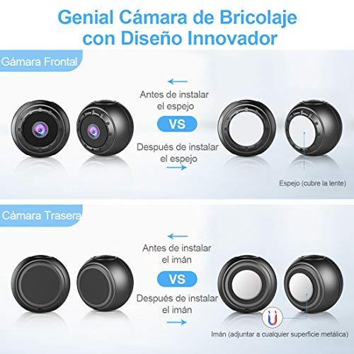 Mini Camara Espia Oculta, MHDYT 1080P HD Micro Camara Vigilancia Grabadora de Video Portátil con IR Visión Nocturna Detector de Movimiento, Camara Seguridad Pequeña Inalambrica Interior/Exterior