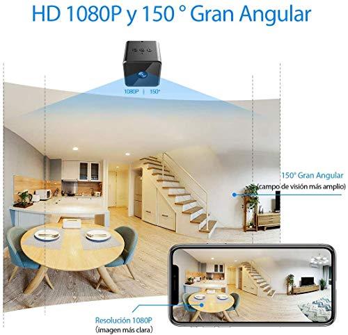 Mini Camara Espia Oculta Wifi Bluetooth, MHDYT HD 1080P Camaras de Vigilancia con Altavoz Bluetooth, Sensor Movimiento, Visión Nocturna, Camara Seguridad CamufladasInalambrica Micro Interior/Exterior