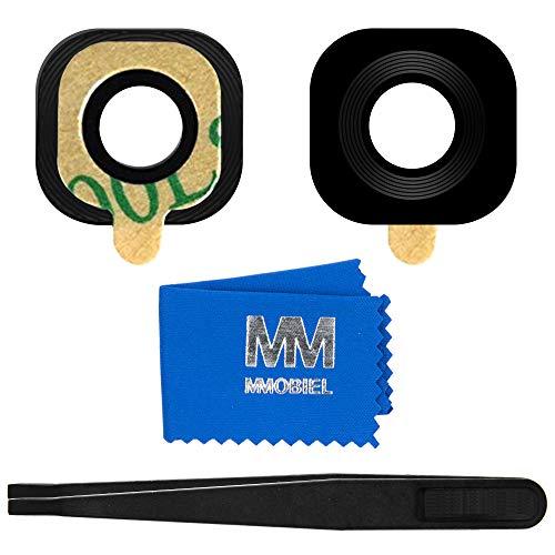 MMOBIEL Reemplazo Lente para Cámara Trasera Compatible con Samsung Galaxy S6 G920, S6 Edge G925 (Negro) Incl. Pinzas