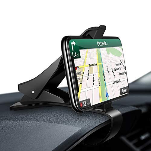 Modohe Soporte para Teléfono de Coche Montaje Móvil Universal Sujeta de Pinza Fuerte al Salpicadero para GPS Xiaomi Redmi Note 7 iPhone 12 11 Pro XR XS MAX X 8 7 6 Samsung S30 S10 Huawei P40 Mate 40