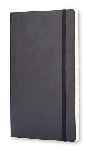 Moleskine - Cuaderno Clásico con Páginas Lisas, Tapa Blanda y Goma Elástica, Negro (Black), Tamaño Grande, 192 Páginas