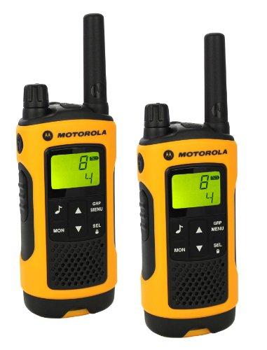 Motorola 59T80EXPACK - Walkie-talkie radio emisor y receptor PMR, amarillo
