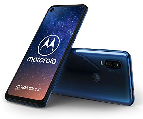 Motorola One Vision - Smartphone Android One (4 GB de RAM, 128 GB, cámara 48 MP Quad Pixel, Pantalla 6.3'' FHD+ CinemaVision, Ratio 21:9, Dual SIM), Color Azul Zafiro [Versión española]