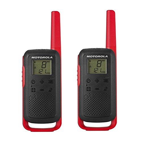 Motorola Talkabout T6PMR Radio de Banda ciudadana (PMR446, 16Canales y 121Códigos, Alcance de 8km)