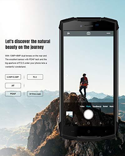 Movil Resistente DOOGEE S55 Smartphone Al Aire Libre Robusto 4G, Doble SIM Libre Android 8.0 Celular, IP68 Teléfono Móvil 4+64GB, 5,5 Pulgadas HD GPS/5500mAh/Cámara 13+8MP/Face ID Celular, Naranja