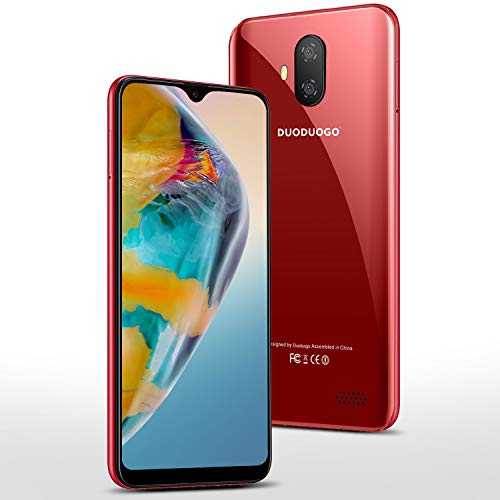 Moviles Libres Baratosde 5,5''Pulgadas Android 9.0 Certificado por Google GMS 3GB RAM 32GB/128GB ROM Smartphone Libres Baratos Quad Core Teléfono Móvil 3400mAh Moviles Barats y Buenos 4G(Rojo)