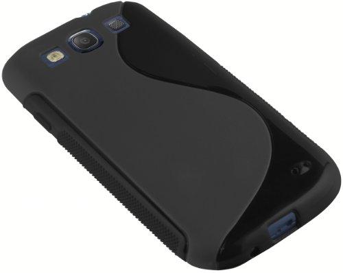 mumbi - Carcasa para Samsung Galaxy S3 (Silicona y Poliuretano termoplástico), Color Negro SIII STPU Black Negro