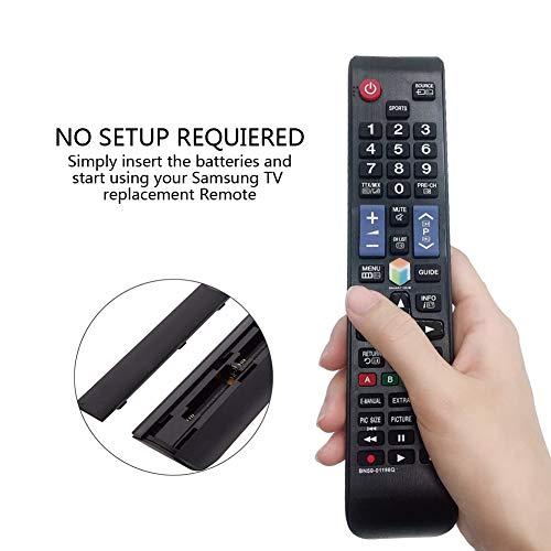 MYHGRC Reemplazo Mando a Distancia para Samsung BN59-01198Q Mando para Samsung TV-No Requiere configuración Mando a Distancia para Samsung LCD LED Smart TV