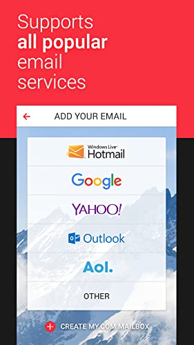 myMail - Free Email Manager for Yahoo, Gmail, Hotmail, Outlook, Live, MSN and AOL Mail