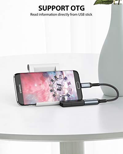 NIMASO Adaptador USB a Micro USB 2.0 OTG [2 Piezas],Cable OTG Micro USB para Samsung Galaxy S6/S7, LG,Sony Xperia y Otros Smartphones y Tablets Android Rosso, Mando a Distancia dji Spark Mavic