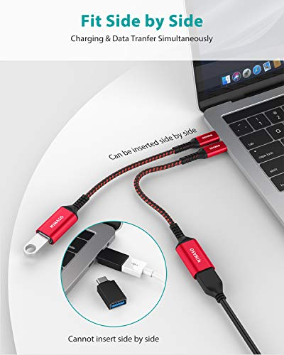 NIMASO Adaptador USB C a USB 3.0 OTG USB C 5 Gbps [2 Piezas],Cable OTG Tipo C para iPad Pro 2020,MacBook Pro 2018,MacBook Air 2020,Samsung Galaxy S20 Note 10,Huawei P30,Google Pixel 3XL y Otro USB C