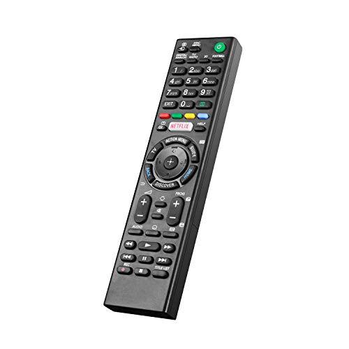 Nuevo Mando a Distancia Universal para Sony LCD/LED TV (Botón Netflix), No Se Requiere Configuración del Televisor Control Remoto Universal RMT-TX100D