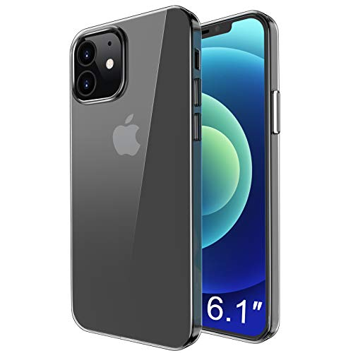 "omitium Funda Compatible con iPhone 12 / iPhone 12 Pro (6,1"") Transparente Carcasa iPhone 12 Pro Suave TPU Silicona Gel Caso iPhone 12 HD Clara Anti- Choques Anti- Arañazos Caso para iPhone 12 Pro"