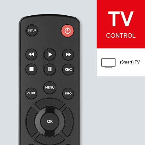 One For All URC1210 - Control remoto universal para todo tipo de TVs, Negro