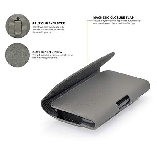 ONX3 - Funda horizontal de piel sintética con cierre magnético para ZTE Blade L7, color gris