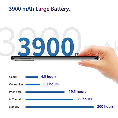 OUKITEL C17 Pro 4G Móviles(2019) Android 9.0 - Pantalla Completa de 6.35 Pulgadas de Agujero Ciego,4GB+64GB,Helio P23 Octa Core Dual SIM Teléfono, 13MP Cámara de Gran Ángular,3900mAh Batería,Rojo