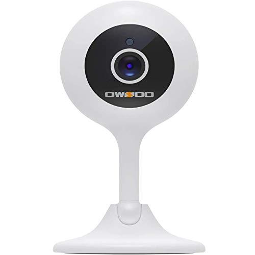OWSOO 1080P Cámara de Vigilancia Interior Inalámbrico 2.4G,Almacenamiento en la Nube,Audio bidireccional,detección de Movimiento con Alarma,visión Nocturna