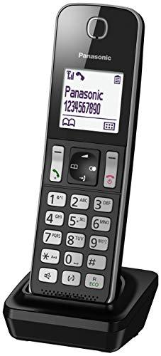 Panasonic KX-TGD310 - Teléfono fijo inalámbrico(LCD, identificador de llamadas, agenda de 120 números, bloqueo de llamada, modo ECO, reducción de ruido), Negro, TGD31 Solo