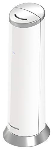"""Panasonic KX-TGK210 - Teléfono Fijo Inalámbrico de Diseño, LCD 1.5"""", Identificador de Llamadas, Agenda de 50 Números, Bloqueo de Llamada, Modo ECO, color Blanco, 1 Unidad"""