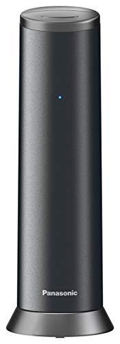 Panasonic KX-TGK210, Teléfono Fijo Inalámbrico de Diseño (LCD, Identificador de Llamadas, Agenda de 50 números, Bloqueo de Llamada, Modo ECO), DECT, Negro