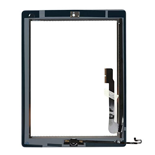para iPad 4 Pantalla Táctil Digitalizador Panel Frontal Reemplazo de Reparación con botón Home, Herramientas y Adhesivo (Blanco)