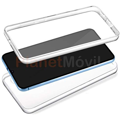 PLANETMOVIL Funda 360 Compatible con [[ Xiaomi Redmi 8 y Redmi 8A ]] Carcasa Doble Cara 360 de Silicona Delantera + Trasera TPU rigido Doble 100% Transparente Enteriza y Completa