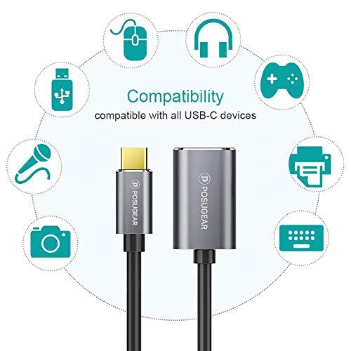 POSUGEAR Adaptador OTG Tipo C, Cable OTG Puerto USB C Macho a Puerto USB A Hembra Host Cable, Compatible con Huawei, Honor, Moto, Samsung, Oneplus, Sony, Xiaomi Redmi, Pocophone etc.