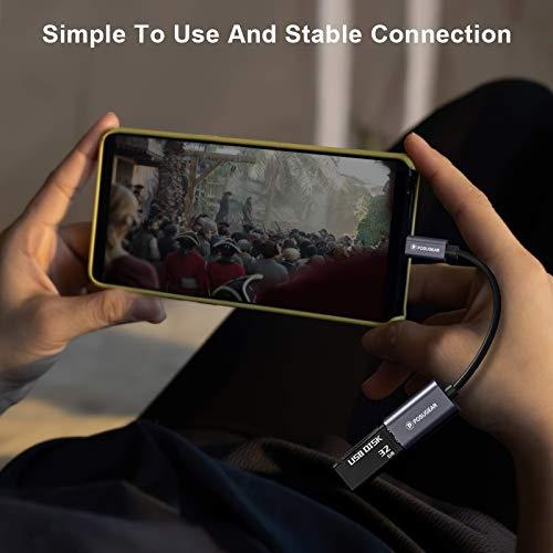 POSUGEAR Cable OTG, Adaptador Micro USB 2.0 Macho a USB Hembra Compatible con Samsung Galaxy S7/S6, Galaxy Note 5,Google Nexus et Android Smartphones/Tablettes
