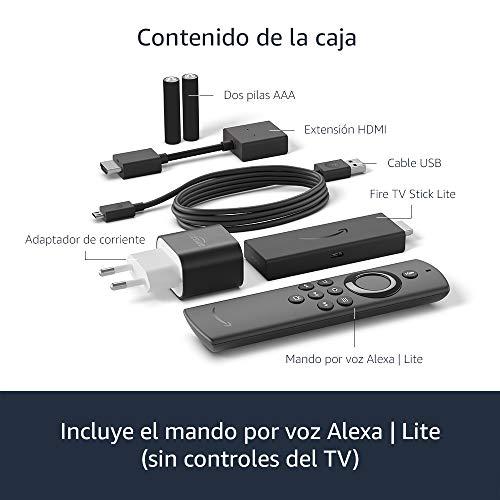 Presentamos el Fire TV Stick Lite con mando por voz Alexa   Lite (sin controles del TV), streaming HD, modelo de 2020