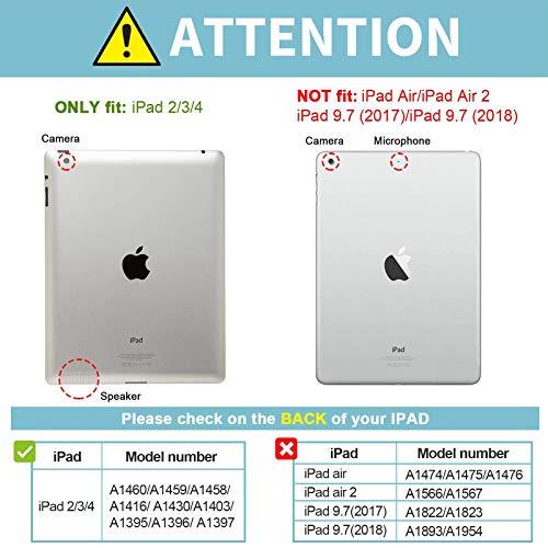 "ProCase Funda iPad 2 3 4 - Carcasa Folio Ligera Delgada con Tapa Inteligente Reverso Translúcido Esmerilado Soporte para 9,7"" Apple iPad 2/iPad 3/iPad 4 (Modelos Antiguos) –Azul Marino"