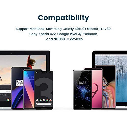 RAMPOW Adaptador USB Tipo C a USB 3.1[OTG] Aluminio Adaptador Garantía de por Vida- Compatible para MacBook Pro 2016/2017, Huawei, Samsung, Google Pixel y Dispositivos con USB C - Rojo,2 Unidades