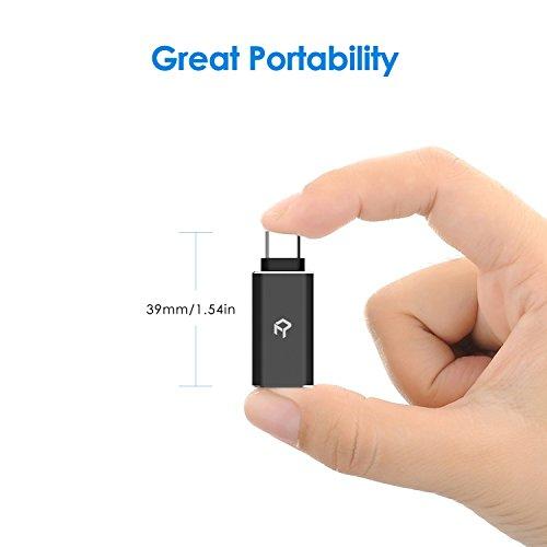 Rankie Adaptador USB C a USB 3,0, Función de OTG, Compatible Dispositivos con USB Tipo C, 2 Unidades, Negro