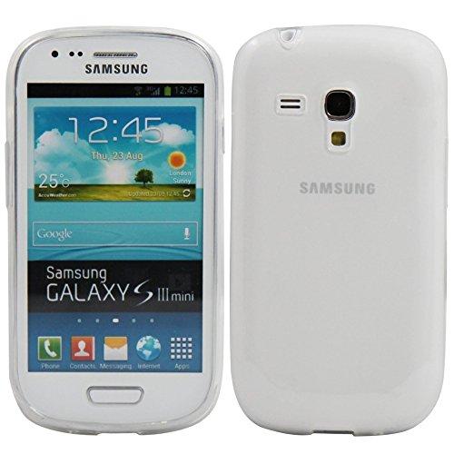 REY Funda Carcasa Gel Transparente para Samsung Galaxy S3 Mini, Ultra Fina 0,33mm, Silicona TPU de Alta Resistencia y Flexibilidad