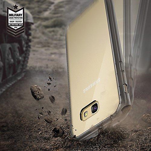 Ringke Fusion Compatible con Funda Galaxy A5 2017 Absorcion de Choque Cojín Carcasa para Galaxy A5 2017 - Cristal Oro Rosa Rose Gold Crystal