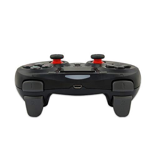 RONGXUE Gamepad Bluetooth Remote Gamepad Joystick Panel Táctil Panel De Juego Funciones De Vibración Dual Mango Antideslizante Adecuado para PC