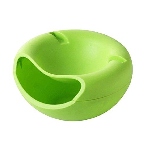 Rukauf - Cuenco verde para tentempiés, nueces, semillas y frutos secos con soporte para teléfono móvil