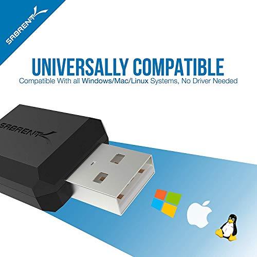 Sabrent Adaptador de USB Externo para estéreo [Tarjeta de Sonido USB] para Windows y Mac. Plug and Play. No Necesita Unidades. (AU-MMSA)