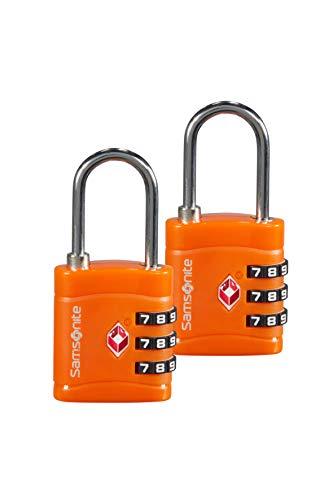 SAMSONITE Global Travel Accessories - Three Dial TSA Combi Candado para equipaje 7 centimeters 1 Naranja (Orange)