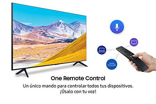 """Samsung Crystal UHD 2020 55TU8005 - Smart TV de 55"""" con Resolución 4K, HDR 10+, Crystal Display, Procesador 4K, PurColor, Sonido Inteligente, One Remote Control y Asistentes de Voz Integrados"""