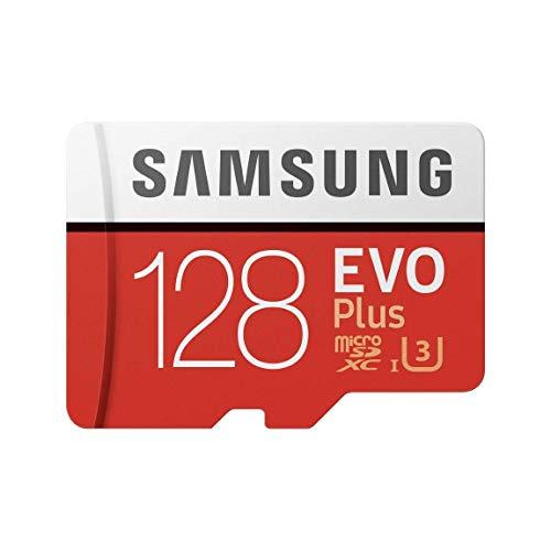 Samsung EVO Plus - Tarjeta de Memoria de 128 GB con Adaptador SD (100 MB/s, U3) Rojo/Blanco