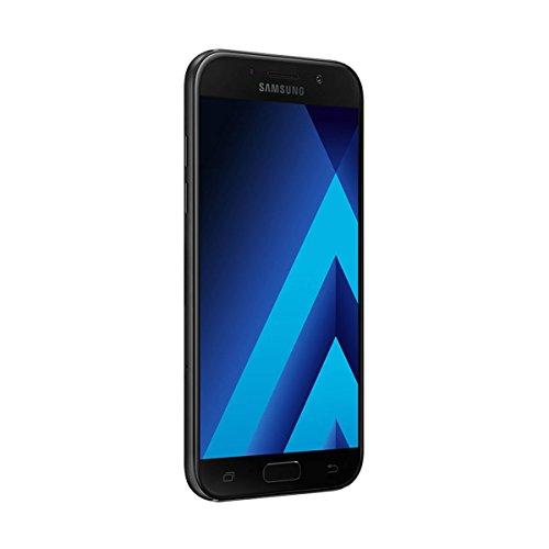 "Samsung Galaxy A5 (2017) - Smartphone Libre de 5,2"" (Android 6.0, Pantalla Super AMOLED táctil capacitiva, cámara Trasera 16 MP y Frontal 16 MP, 32 GB) [Versión española] Negro"