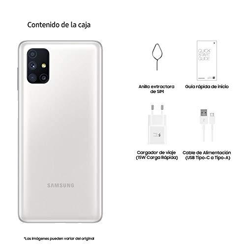 """Samsung Galaxy M51 Smartphone de 6.7"""" FHD+   Móvil Libre   Batería 7000 mAh y Carga rápida - Color Blanco [Versión española] [Exclusivo Amazon]"""