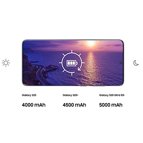 "Samsung Galaxy S20+ 5G - Smartphone 6.7"" Dynamic AMOLED (12GB RAM, 128GB ROM , cuádruple cámara trasera 64MP, Octa-core Exynos 990, 4500mAh batería, carga ultra rápida) Cosmic Gray [Versión española]"